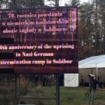 Tablica- powstanie w Sobiborze- rocznica 2013